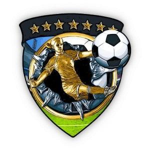 medalla fútbol con imán