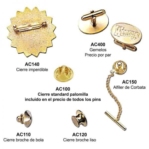 accesorios para pins personalizados
