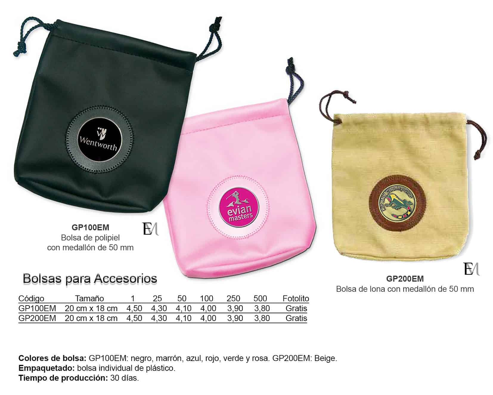 Bolsas para accesorios para golf personalizadas Emblemarket
