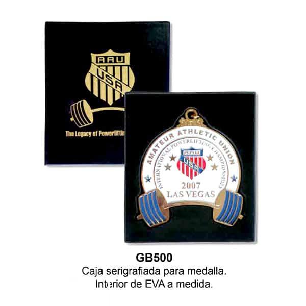 caja serigrafiada para medallas